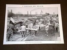 Guerra in Europa Anno 1914 Esercito di Germania nel Belgio Forno presso Ypres
