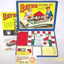 More details for an original vintage 1952 bayko building set 0 boxed, excellent. read description