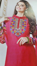 Cotton Salwar Kameez Dupatt fg Beautiful Embroidery Ethinc 1 X SUIT 3 pc