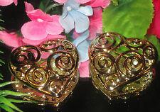 VINTAGE JEWELRY BROOCH PIN LOT ART DECO HEART GP LOVE BOLD CHUNKY SET ROMANCE