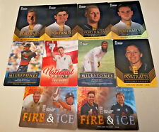 OFFICIAL ENGLAND 2018 CRICKET CARDS Portrait Fire & Ice milestones Tap n Play