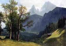 Métal signe Albert Bierstadt tyrolien lansscape A4 12x8 aluminium