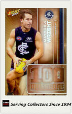2017 AFL Footy Stars Trading Card Milestones Subset MG9 Matthew Wright (Carlton)
