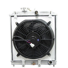 Aluminum Radiator + Shroud + Fan for CIVIC DEL SOL B18 B16 MT