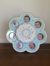 Nursery Newborn Blue Musical First 12 Months Photo Frame New Baby Boy Gift