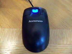 Lenovo IBM MO09BO Optical USB Lighted Mouse LIGHTS UP BLUE!!! FRU 45K1654