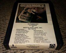 GUNSMOKE ON THE RADIO 8 track tape NLT-8010 NOSTALGIA LANE INC RECORDS ALBUM