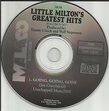 LITTLE MILTON Going Going Gone PROMO Radio DJ CD single 1995 USA MINT