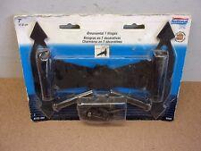 "Two 7"" Ornamental T-Hinges National Hardware Steel Black Powder Coated Nip Nos"