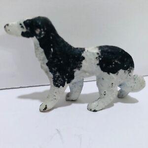 Russian Wolfhound Borzoi Metal Miniature Figurine Vintage