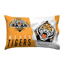 Official NRL West Tigers 2017 Bed Single Pillowcase Pillow Case
