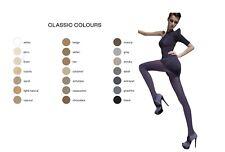 Fiore Roza Tights – 60 Denier Matte Opaque – Black Chocolate Graphite Brown 5