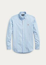 Ralph Lauren Polo Mens M Classic Fit Button Down Oxford Shirt Aqua Blue PLD
