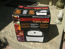 Nesco American Harvest FD-80 Food and Jerky Maker Dehydrator, White, Made in USA