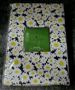 """Kate Spade NY Dense Daisy Cotton Tablecloth Navy 60"""" x 102"""" NIP"""