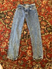 Vintage Levis 501 Denim Jeans Made in Usa Acid Wash Actual 27x31 High Waist Mom
