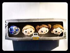 Brand New Disney Star Wars 40th Anniversary Tsum Tsum Set Han Luke Leia R2D2