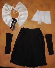 New Pilgrim Dance Costume Black Skirt Collar Bonnet Hat and Mitts Girls Int Chld
