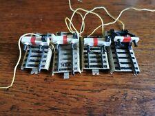 marklin voie M: lot de 4 rails buttoirs dont 3 avec éclairages