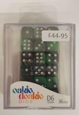More details for oakie doakie dice - glow in the dark, biohazard (36 d6 dice, 12mm)