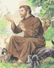 St.Francis of Assisi Counted Cross Stitch Kit Religion/Saint