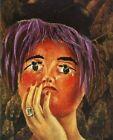 Print -   The mask - by Frida Kahlo