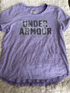Under Armour girls sz. M loose classic purple logo tee. Soft, cute