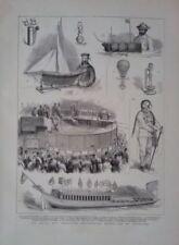 Antique (Pre-1900) Black Maritime Art Prints