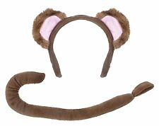 Child Fancy Dress Monkey Set Ears and Tail