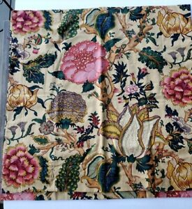 Pair of Pottery Barn Cotton-Linen Blend Euro Shams - Gorgeous Botanical Pattern