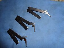 3 Eugene Featherweight Curler clamps--aluminum and rubber VINTAGE 1920