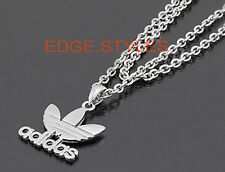 Hollywood Adidas sports logo Crown Font Letter pendant chain Unisex Necklace HOT