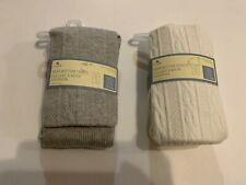 2 Pcs Gap Bear Bottom Tights Lot Of 2 BabyGap Sock 4-5 Yrs Gray/Cream NWT