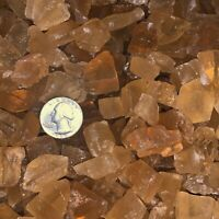 3000 Carat Lots of SMALL Citrine Calcite Rough + A FREE Faceted Gemstone