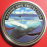 2002 PALAU $5 SILVER PROOF COLORED WHALES NEPTUNE SEA HORSES CHARIOT MARINE LIFE