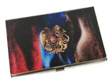Personalized Metal Business Card Holder with Armenian Flag