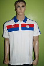 adidas OLYMPIQUE LYONNAIS Polo Shirt Gr.M weiss rot blau