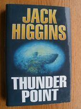 Jack Higgins Thunder Point SIGNED book plate 1st ed UK HC
