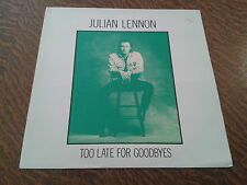 maxi 45 tours julian lennon too late for goodbyes