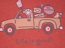 LIFE IS GOOD MEN 'S S/S TAILGATE TRIP T- SHIRT SIZE L