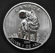 2011 Canada $5 Silver Wolf Coin - 1 oz. fine .9999