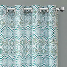 "Echo Triana Grommet Top Curtain Panel, Green, 63"" Length"