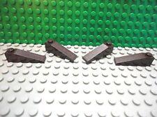 Lego 4 Dark Brown 4x1 slopes 18 degree brick block NEW