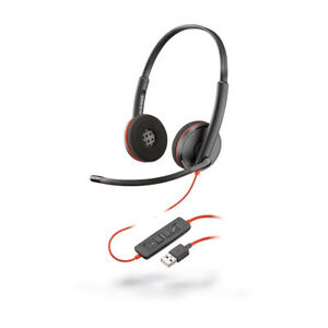 New Plantronics Blackwire C3220 Headset with Microphone Usb-A 209745-201 yell 1