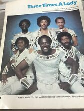 Commodores Sheet Music - 3 Times A Lady, 1978 Lionel Richie