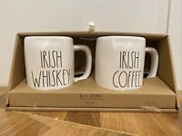 Rae Dunn Irish Coffee & Whiskey Mug Set St Patrick's Day New LL Magenta Artisan