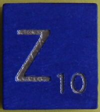 Scrabble Tiles Replacement Letter Z Blue Wooden Craft Game Part Piece 50th Ann.