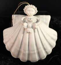 "MARGARET FURLONG Sea Shell Angel Dogwood 3"" 1997 Christmas Ornament"