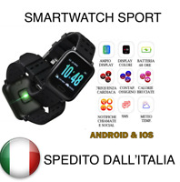 A6 Smart Watch Bracciale pressione sanguigna frequenza cardiaca Monitor Fitness