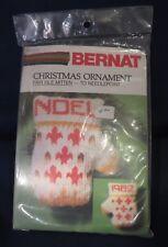 """Bernat """"Fair Isle Mitten"""" Christmas Ornament Needlepoint Kit - Unopened"""